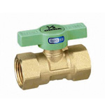 Ball Valve, FS, Green T Handle