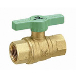 Ball Valves, Full-Bore, Oversized Ball Type, Green T-Handle, FF Type