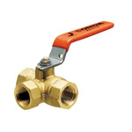 T Type (Three-way) Ball Valve, Lever Handle