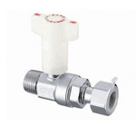CB7 Type, Ball Valve with Check Valve, R Screw x Adapter with Nut