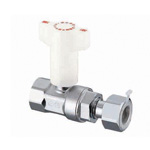 CB8 Type, Ball Valve with Check Valve, Adapter with Rc Screw × Nut