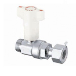 CB20 Type, Ball Valve with Check Valve, G Screw x Adapter with Nut