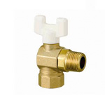 Right Angle Ball Valve, AL2 Type, Rc Thread × R Thread