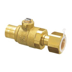 S-Type (Solder) Ball Valve S2 Type Copper Tube Connection × Adapter with Nut