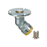 Double-Lock Joint, WL 13/16/28, Floor Rise Adapter, Brass