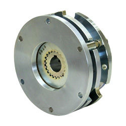 Spring-actuated-type-permanent-magnet-actuated brake (for braking and retention)
