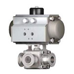 Small-Caliber Air-Drive 3-Way Ball Valve (Single Action)