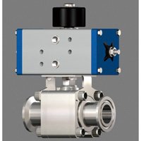 Small-Caliber Air-Drive 2-Way Ball Valve (Double Action)