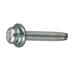 Cross Recessed Pan Head Tapping Screw, Type 3 Grooved C-1 Shape, P=3 (SW + JIS Flat W)