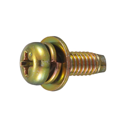 Cross Recessed Pan Head Tapping Screw, Type 3 Grooved C-1 Shape, I=3 (SW + ISO Flat W)