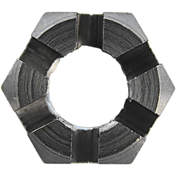Castellated Nut, Short Type, 1 Type, Fine-Thread