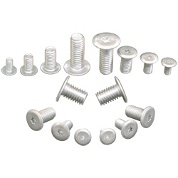 Aluminum Ultra Low Head Cap Screws, 6 Lobs