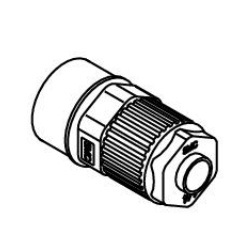 Female Connector LQ1H-F Inch Size Fluoropolymer Fittings / Hyper Fittings