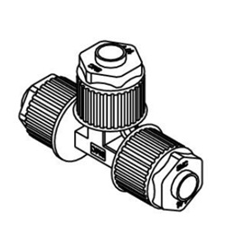 Union Tee LQ1T Metric Size Fluoropolymer Fittings / Hyper Fittings