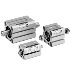 Compact Cylinder, Standard Type, Double Acting, Double Rod CQSW Series