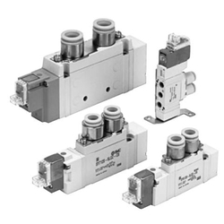 5-Port Solenoid Valve Body Ported Single Unit SY5000 Series
