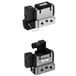 5-Port Solenoid Valve, Pilot Type, Rubber Seal, Plug-In / Non Plug-In VFR3000 Series
