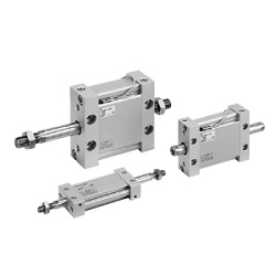 MUW Series Plate Cylinder, Double Acting, Double Rod