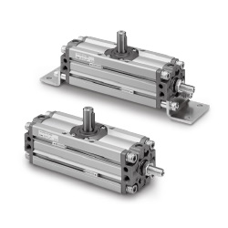 CRA1□□U Series Angle Adjustable Rotary Actuator, Rack & Pinion Type