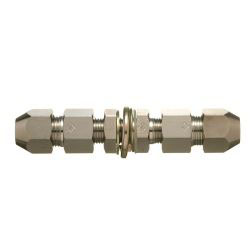 Double Nut Type Fitting Bulkhead Union for Control Copper Pipes