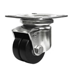 Stainless Steel Low Platform Heavy Duty Dual Wheel Caster SUHJT