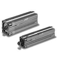 Thin air pneumatic cylinder 10S-6REC with fall prevention and free position one-way lock
