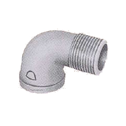 Pipe Fittings - Female/Male Elbow (Street Elbow) (with Band) - Unplated
