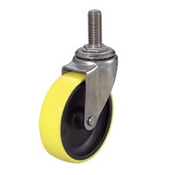 Screw-In Type, Anti-Static Urethane Caster, Steel Fitting, Freely Rotating