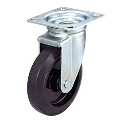 Press-Formed Nylon Wheel, Rubber Casters, Freely Rotating