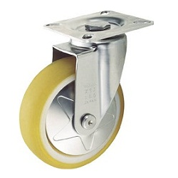 Press-Formed Reduced Noise Caster, Stainless Steel Fitting, Freely Rotating