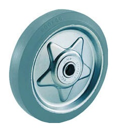 Pressed Gray Rubber Caster (Non Tire Marking), Replacement Wheels