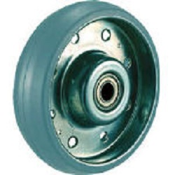 Press Type Gray Rubber Caster, High Tensile Strength Steel Caster (Non Tire Marking), Replacement Wheel