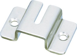 Chain holder fitting (removable, stainless steel)