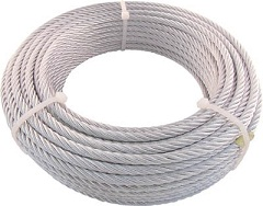 Plated wire rope JIS-certified product