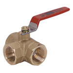 400 Type - Brass Screw-in Type 3-Ball Valve
