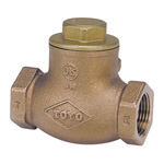 10 K - Bronze Screw-in Type Swing Check Valve (Metal Sheet) (JIS B 2011) <<This Product Displays The New JIS Mark.>>