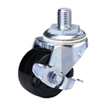 Middle Class 300Hs Bolt Type Synthetic Resin Wheel with Stopper (Packing Caster) for Heavy Loads