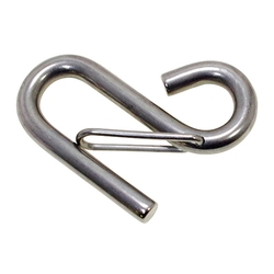 Stainless Steel, S-Shaped Hook, with Spring