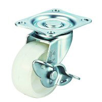 LG-S Swivel Caster, Plate Type (with Stopper)