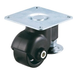 Swivel Caster, with Adjust Foot, with Plate (for Light Loads)