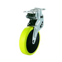 NPR Model Fixed Wheel Plate Type Anti-Static Urethane Foam Wheel