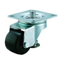 Caster with Adjuster Foot Free Wheel Plate Type