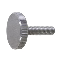 Stainless Steel Knurled Screw Flat Type