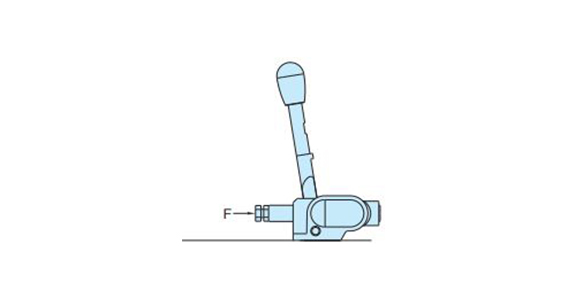 · The clamping force and the lever load may vary by a maximum of ±20% with respect to the set value. · If the reaction force acting on the clamp surface (F) exceeds the clamping force, the clamp is released.